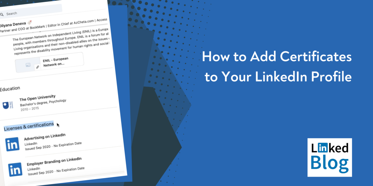 How to Add Certificates to Your LinkedIn Profile