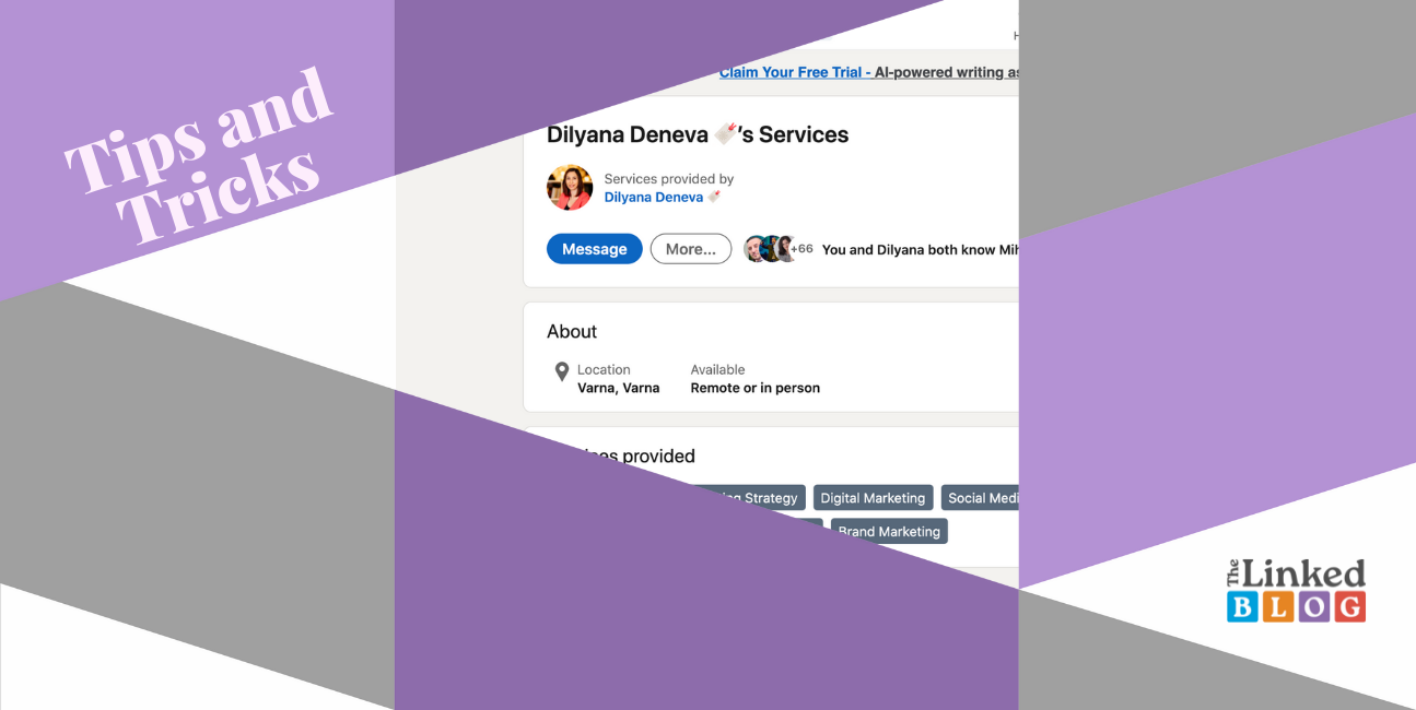 How to Add a service page to your LinkedIn profile