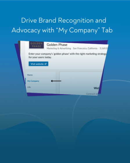 """Drive Brand Recognition and Advocacy with """"My Company"""" Tab"""